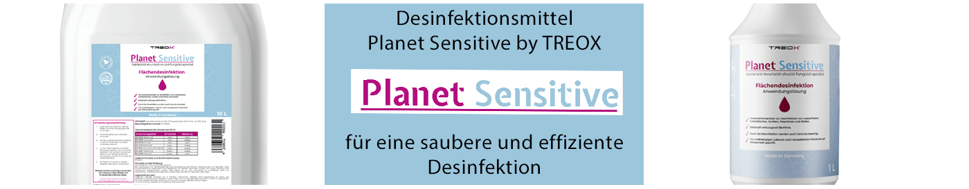 Desinfektionsmittel Planet Sensitive - Hier klicken!